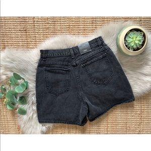 Vtg Lee Black Denim Shorts